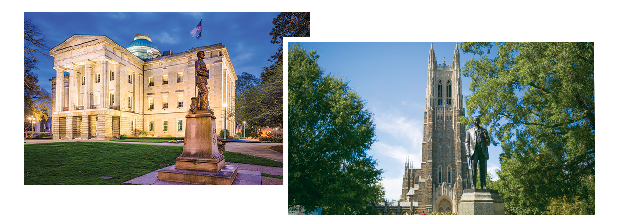 NC State Capitol and Duke Chapel graphic