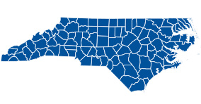 North Carolina map icon